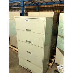PALLET OF 2 METAL STORAGE CABINETS  & LATERAL FILE CABINET