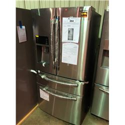SAMSUNG RF25HMEDBSR STAINLESS STEEL FRENCH DOOR FRIDGE WITH DOUBLE DRAWER ROLL OUT FREEZER WATER