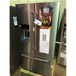 KITCHENAID KRFF507HPS FRENCH DOOR FRIDGE WITH ROLL OUT FREEZER , WATER AND ICE DISPENSER