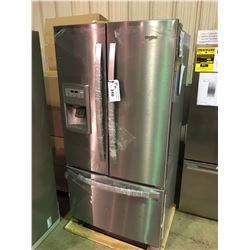 WHIRLPOOL STAINLESS STEEL FRENCH DOOR FRIDGE WITH ROLL OUT FREEZER AND WATER AND  ICE DISPENSER