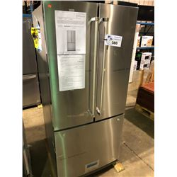(BOXED) KITCHENAID KRFF300ESS  FRENCH DOOR FRIDGE WITH ROLL OUT FREEZER.