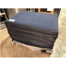 """PALLET OF BLUE WITH BLACK RUBBER BACK 34"""" X 23"""" ENTRANCE WAY MATS"""