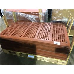 """PALLET OF RED  RUBBER COMMERCIAL ANTI SLIP  60""""  X  36"""" MATS"""