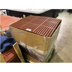 """PALLET OF RED  RUBBER COMMERCIAL ANTI SLIP INTER LOCKING   36"""" X 36""""  MATS"""