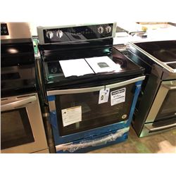 WHIRLPOOL YWFE745HOFS STAINLESS STEEL GLASSTOP STOVE (NOTE DAMAGE TO SIDE)