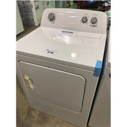 WHIRLPOOL YWED4850HWO   7.0 CU.FT WHITE ELECTRIC VENTED DRYER WITH AUTODRY DRYING SYSTEM CLOTHES