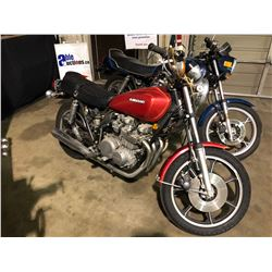 1978 KAWASAKI KZ650SR, MOTORCYCLE, RED, VIN # 0003777