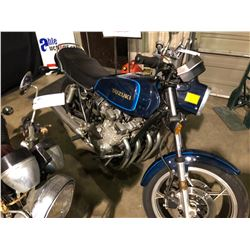 1980 SUZUKI TSCC GS750, MOTORCYCLE, BLUE, VIN # 503724