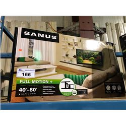 "SANUS 40""-80"" FULL MOTION TV WALL MOUNT"