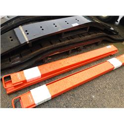 PR OF ORANGE FORK LIFT EXTENSIONS