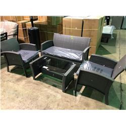 (BOXED)PATIOFLARE 4 PIECE GEORGIA PATIO CONVERSATION SET