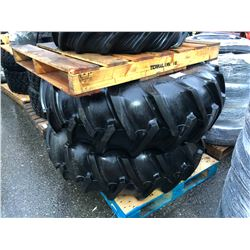 2 FIRESTONE TRACTOR TIRES ON STEEL RIMS