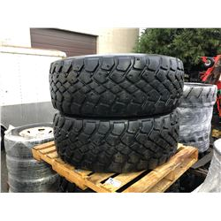 2 MICHELIN 425/65R22.5 M+S TRUCK TIRES