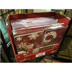 BOX OF 6 PACKS CONTAINING 40 CARDS IN EACH HALLMARK HOLIDAY GREETING CARDS