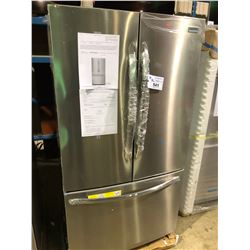 FRIGIDAIRE FGHG2368TF STAINLESS STEEL FRENCH DO0R FRIDGE WITH ROLL OUT FREEZER