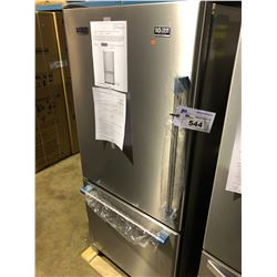 MAYTAG MBL1957FEZ STAINLESS STEEL FRIDGE WITH ROLL OUT FREEZER