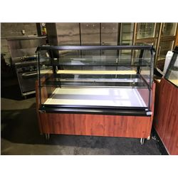 3 TIER GLASS FRONT REFRIGERATED DELI DISPLAY CASE(MISSING FRONT GLASS)