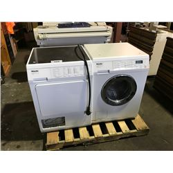 WHITE MIELE FRONT LOAD WASHER AND DRYER