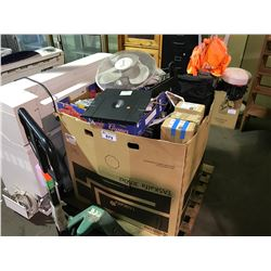 PALLET OF ASSORTED TOOLS, ELECTRONICS AND MISC