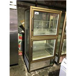 2 DOOR TECFRIGO PASTRY FRIDGE WITH GLASS FRONT