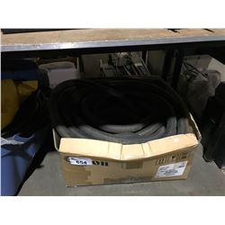 BOX OF ASSORTED SHOP VAC HOSE, AND BOX OF  ASSORTED HOSES