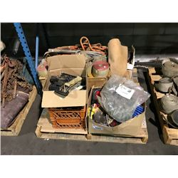PALLET OF TOOLS, LOAD STRAPS