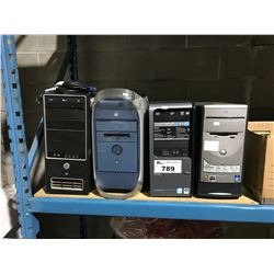 4 ASSORTED APPLE & PC COMPUTER TOWERS