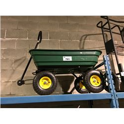 GREEN PNEUMATIC TIRE WAGON