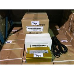 BOX OF 4 GOLD 600W ELECTRONIC DIMMABLE LIGHTING BALLASTS