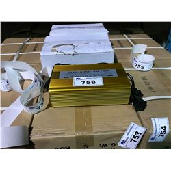 BOX OF 4 GOLD 600W ELECTRONIC LIGHTING BALLASTS