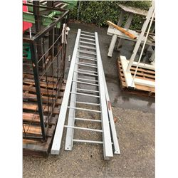 PAIR OF GREY METAL ROOF ACCESS LADDERS