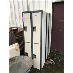 4 ASSORTED METAL LOCKERS SYSTEMS