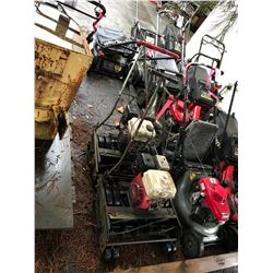 PAIR OF GAS POWERED WALK BEHIND COMMERCIAL REEL MOWER
