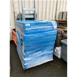 STACK OF 9 PLASTIC PALLETS