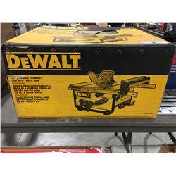 "DEWALT 10"" COMPACT JOB SITE TABLE SAW"