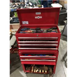 RED 2PCE ROLLING TOOL CHEST & CONTENTS