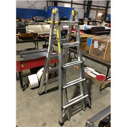 MASTER CRAFT ALUMINUM COMBINATION LADDER