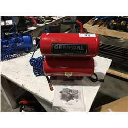 GENERAL INTERNATIONAL 4 GAL TWIN STACK TANKS AIR COMPRESSOR