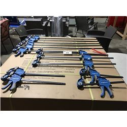 GROUP OF 13 MAGNUM BAR CLAMPS