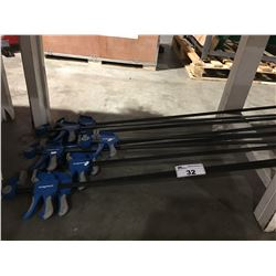 GROUP OF 10 MAGNUM BAR CLAMPS