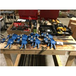 GROUP OF 14 MAGNUM SMALL BAR CLAMPS