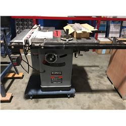 """KING INDUSTRIAL KC-10JCS 10"""" CABINET TABLE SAW"""