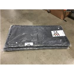 2 RUBBER BOOT TRAY MATS
