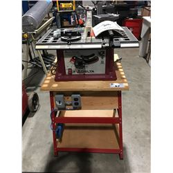 "DELTA 10"" MOTORIZED BENCH SAW WITH STAND"
