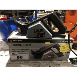 BLACK & DECKER 80 MM PLANER