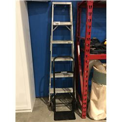 6' ALUMINUM LADDER & SMALL 2 WHEEL DOLLY