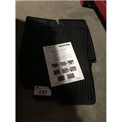 HYUNDAI BLACK RUBBER FLOOR MAT SET