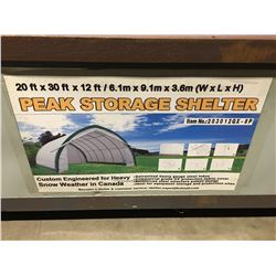 20' X 30' X 12' PEAK STORAGE SHELTER