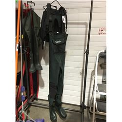 PAIR OF RON TOMPSON CLASSIC PRO NEOPRENE FISHERMANS WADERS SIZE 8/9