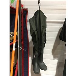 PAIR OF HIP WADERS - SIZE 10